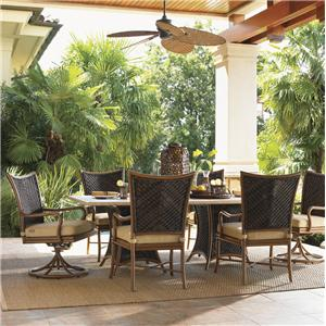 Tommy Bahama Outdoor Living Island Estate Lanai 7 Piece Outdoor Dining Set