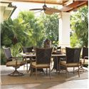 Tommy Bahama Outdoor Living Island Estate Lanai 7 Piece Outdoor Dining Set - Item Number: 3170-876WT+TB+2x13+2x13SR+793