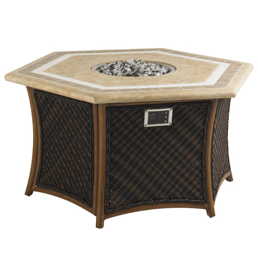 Tommy Bahama Outdoor Living Island Estate Lanai Outdoor Gas Fire Pit - Item Number: 3170-920FG