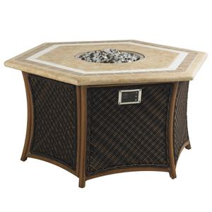 Tommy Bahama Outdoor Living Island Estate Lanai Outdoor Gas Fire Pit