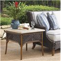 Tommy Bahama Outdoor Living Island Estate Lanai Outdoor Accent Table with Weatherstone Table Top - Shown with Outdoor Boxed Edge Sofa