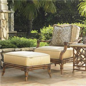 Tommy Bahama Outdoor Living Island Estate Veranda Outdoor Lounge Chair and Ottoman