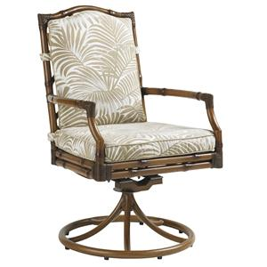 Tommy Bahama Outdoor Living Island Estate Veranda Outdoor Swivel Rocker Dining Chair