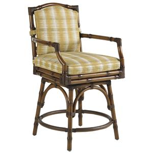 Tommy Bahama Outdoor Living Island Estate Veranda Outdoor Swivel Counter Stool