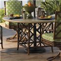 Tommy Bahama Outdoor Living Island Estate Veranda Outdoor Weatherstone Round Dining Table - Item Number: 3160-870TB+3160-870WT