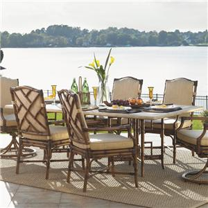 Tommy Bahama Outdoor Living Island Estate Veranda Weatherstone Rectangular Dining Table