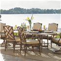 Tommy Bahama Outdoor Living Island Estate Veranda Weatherstone Rectangular Dining Table - Item Number: 3160-876TB+3160-876WT