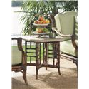 Tommy Bahama Outdoor Living Island Estate Veranda Outdoor Side Table with X Base - Shown with Lounge Chair