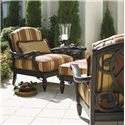 Tommy Bahama Outdoor Living Kingstown Sedona 2 Lounge Chairs with Ottoman & Table Set - Item Number: 2x3190-11+CS3190-11+3190-44+953