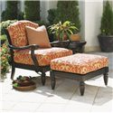 Tommy Bahama Outdoor Living Kingstown Sedona Chair and Ottoman Set with Table - Item Number: 3190-11+CS3190-11+3190-44+2x953