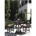 Tommy Bahama Outdoor Living Kingstown Sedona Swivel Counter Stool with Turned Legs - Shown with High/Low Bistro Table Lowered