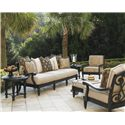 Tommy Bahama Outdoor Living Kingstown Sedona 6 Piece Patio Set - Item Number: 3190-33+CS3190-33S+10+11+44+953