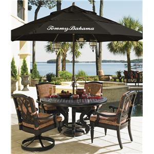 Tommy Bahama Outdoor Living Kingstown Sedona 6 Piece Dining Set with Umbrella