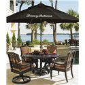 Tommy Bahama Outdoor Living Kingstown Sedona 6 Piece Dining Set with Umbrella - Item Number: 3190-870CT+TB+2x13SR+2x13+3100-733