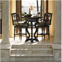 Tommy Bahama Outdoor Living Kingstown Sedona 3 Piece Dining Pub Set with Bar Stools - Item Number: 3190-873CT+873BB+2x16SW+CS3190-16SW