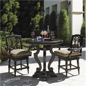 Tommy Bahama Outdoor Living Kingstown Sedona 3 Piece Dining Pub Set with Counter Stools