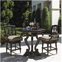 Tommy Bahama Outdoor Living Kingstown Sedona 3 Piece Dining Pub Set with Counter Stools - Item Number: 3190-873CT+873BB+2x17SW+CS3190-17SW