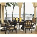 Tommy Bahama Outdoor Living Kingstown Sedona 7 Piece Dining Set with Cast Rect. Table - Item Number: 3190-876CT-876TB+2x13SR+4x3190-13