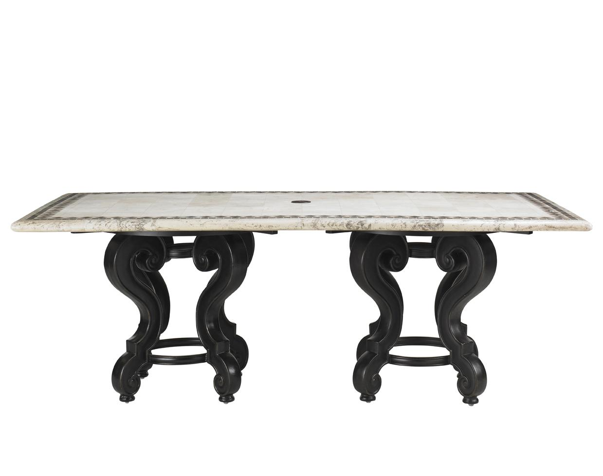 Stone Rectangular Dining Table