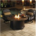 Tommy Bahama Outdoor Living Kingstown Sedona 3 Piece Fire Pit Set - Item Number: 3190-920FG+2x3190-11SW+CS3190-11SW