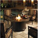 Tommy Bahama Outdoor Living Kingstown Sedona 5 Piece Fire Pit Set - Item Number: 3190-920FG+4x3190-10+CS3190-10