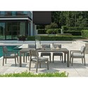 Tommy Bahama Outdoor Living La Jolla 7-Piece Outdoor Dining Set - Item Number: 3950-877+4X3950-12+2X3950-13