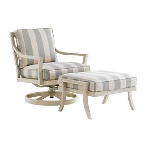 Tommy Bahama Outdoor Living Misty Garden Swivel Rocker Chair & Ottoman