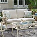 Tommy Bahama Outdoor Living Misty Garden Outdoor Loveseat with Performance Fabric Upholstery