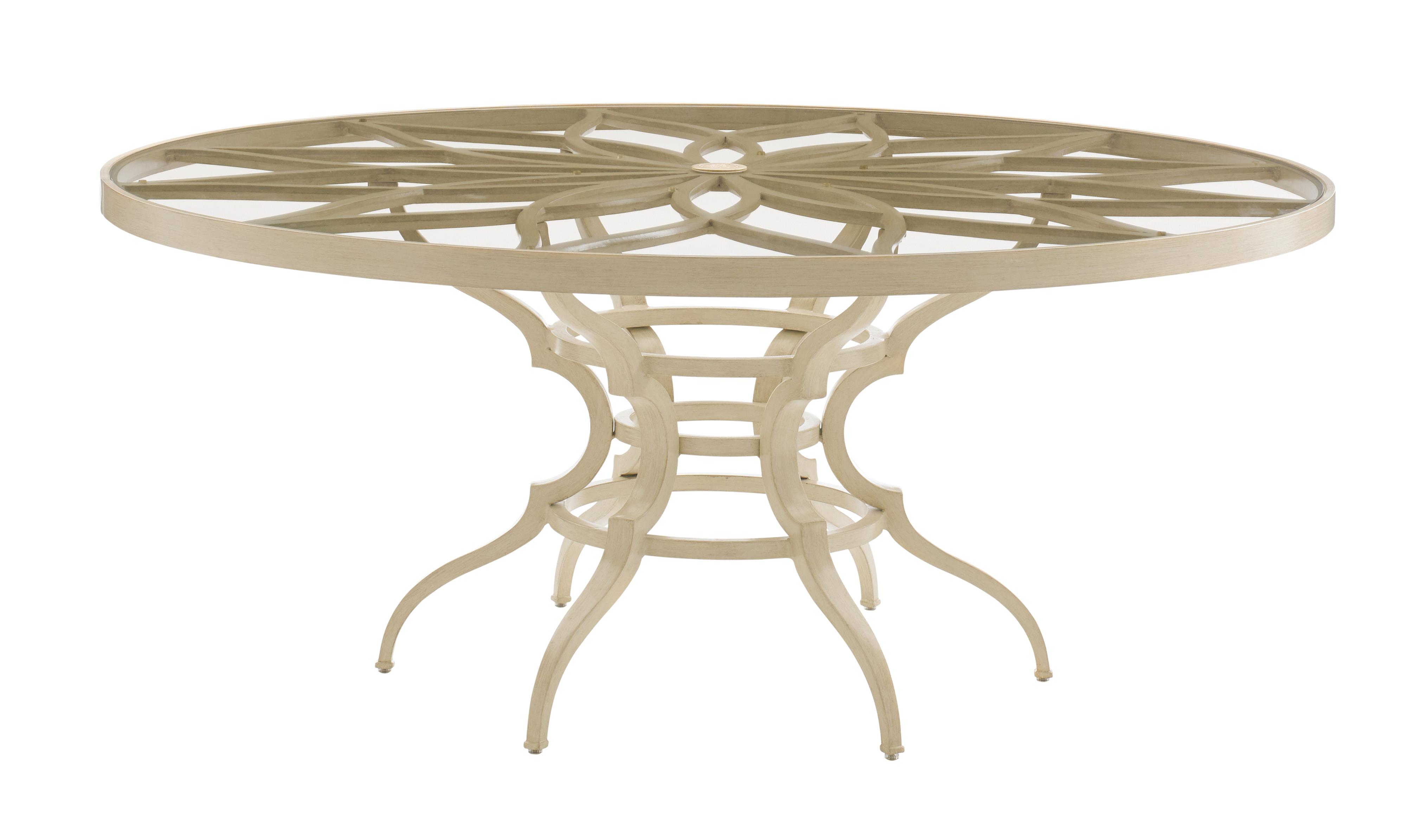 Misty Garden Round Dining Table w/ Glass Top by Tommy Bahama Outdoor Living at Baer's Furniture