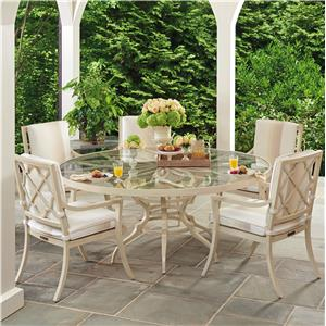Tommy Bahama Outdoor Living Misty Garden 6 Pc Dining Set with Round Table