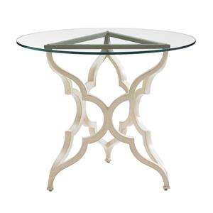 Tommy Bahama Outdoor Living Misty Garden Round Breakfast Table w/ Glass Top