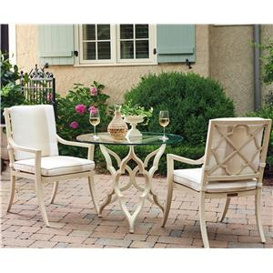 Tommy Bahama Outdoor Living Misty Garden 3 Pc Breakfast Table Dining Set