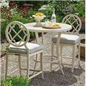 Tommy Bahama Outdoor Living Misty Garden 3 Pc High/Low Bistro Table w/ Counter Stools - Item Number: 3239-873PT+BB+2X17+CS3239-17