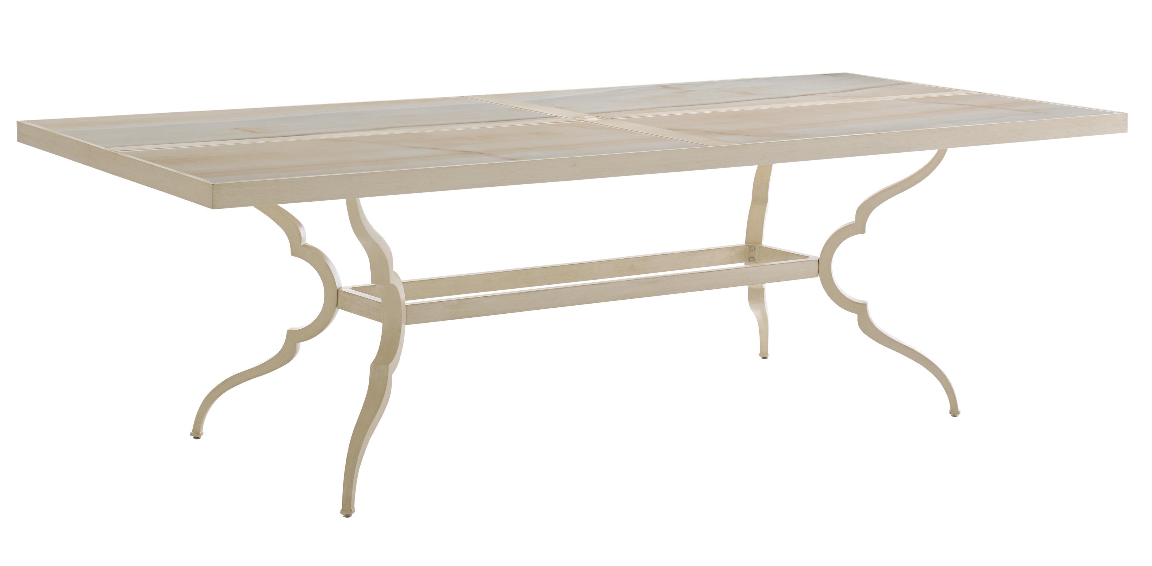 Rectangular Dining Table w/ Porcelain Top