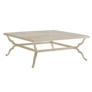 Tommy Bahama Outdoor Living Misty Garden Square Cocktail Table w/ Porcelain Top
