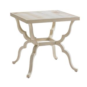 Tommy Bahama Outdoor Living Misty Garden Square End Table w/ Porcelain Top