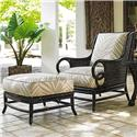 Tommy Bahama Outdoor Living Marimba Outdoor Lounge Chair and Ottoman Set - Item Number: 3237-11+CS3237-11+44-7686-11