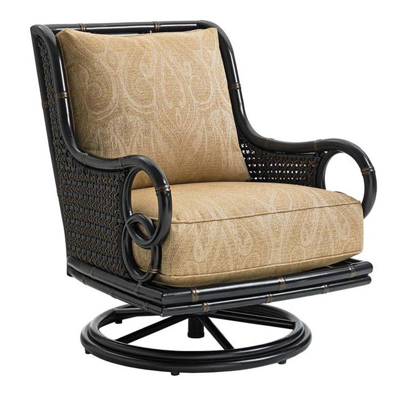 Tommy Bahama Outdoor Living Marimba Swivel Rocker Lounge Chair - Item Number: 3237-11SR+CS3237-11SR-7684-41