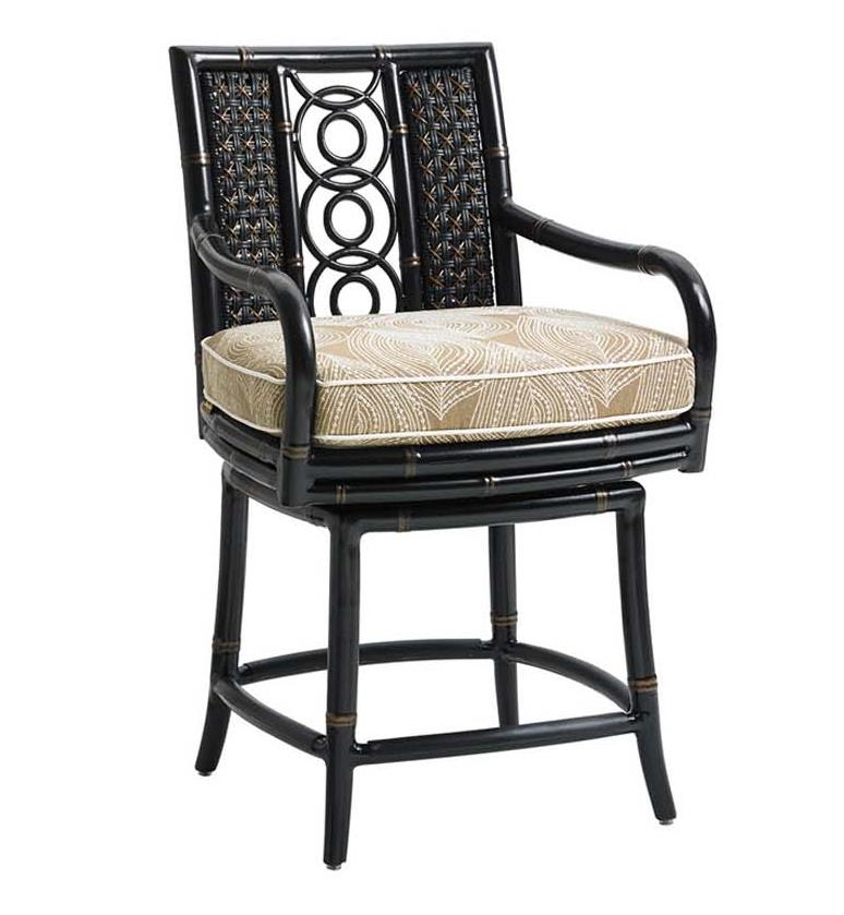 Marimba Swivel Counter Stool by Tommy Bahama Outdoor Living at Baer's Furniture