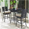 Tommy Bahama Outdoor Living Marimba High/Low Bistro Table w/ Bar Stools - Item Number: 3237-873+2X3237-16SW+CS3237-16SW