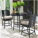 Tommy Bahama Outdoor Living Marimba High/Low Bistro Table w/ Counter Stools - Item Number: 3237-873+2X3237-17SW+CS3237-17SW