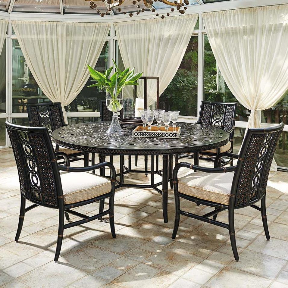 Tommy bahama outdoor living marimba six piece outdoor for 13 piece dining table set