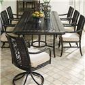 Tommy Bahama Outdoor Living Marimba 9 Pc Outdoor Dining Set - Item Number: 3237-877+2X13SR+6X13