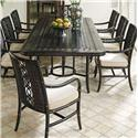 Tommy Bahama Outdoor Living Marimba 9 Pc Outdoor Dining Set - Item Number: 3237-877+8X13