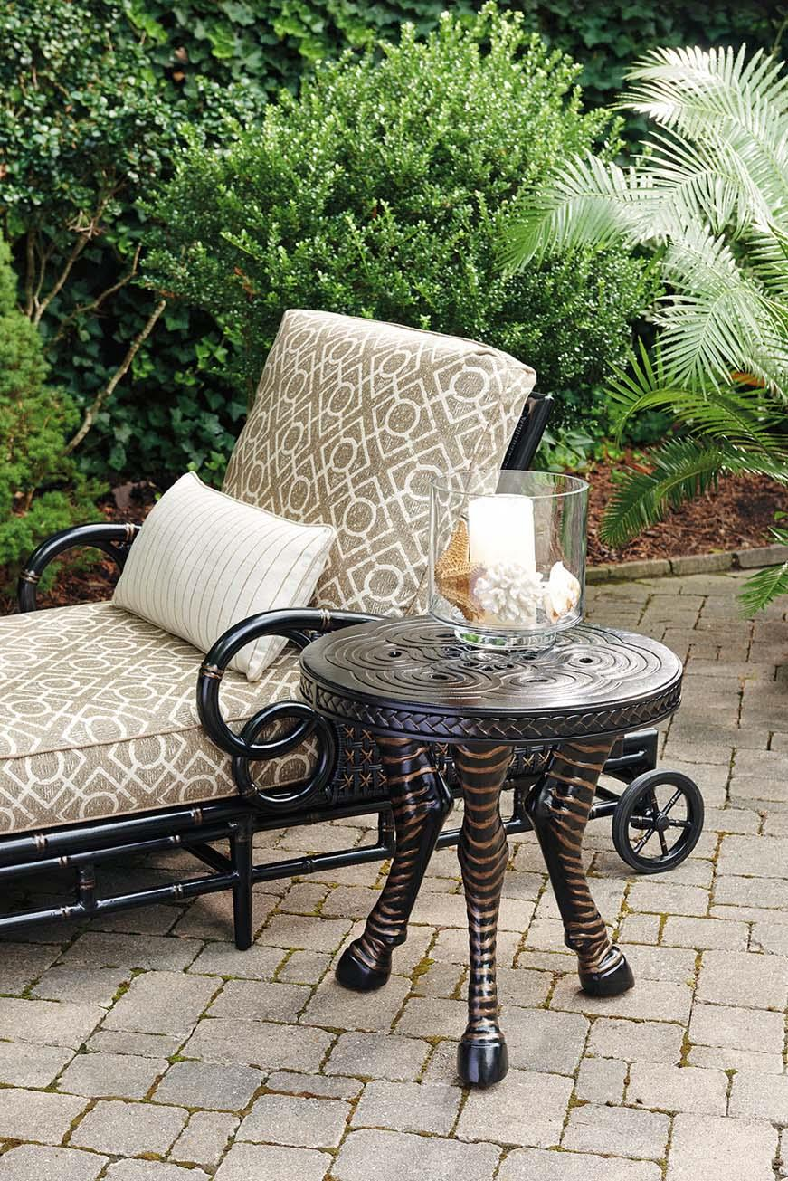 Tommy Bahama Outdoor Living Marimba Outdoor Zebra Accent Table Reeds Furniture Outdoor End