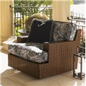 Tommy Bahama Outdoor Living Ocean Club Pacifica Outdoor Woven Rattan Swivel Lounge Chair with T-Cushions