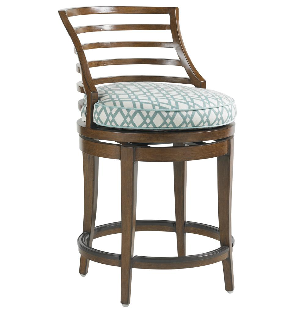 Tommy Bahama Outdoor Living Ocean Club Pacifica Outdoor Swivel Counter Stool - Item Number: 3130-17SW+CS3130-17SW