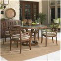 Tommy Bahama Outdoor Living Ocean Club Pacifica 5 Piece Dining Table and Chair Set  - Item Number: 3130-870+4x3130-13+CS3130-13