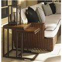 Tommy Bahama Outdoor Living Ocean Club Pacifica Weatherstone Nesting Tables - Shown with Sectional Sofa