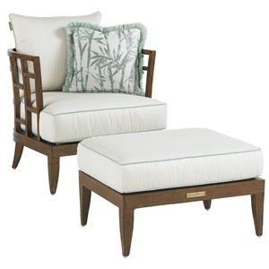Tommy Bahama Outdoor Living Ocean Club Resort Lounge Chair and Ottoman